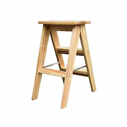 Amazing Amazon Com Folding Ladder Step Stool Wooden 2 Tread Kitchen Inzonedesignstudio Interior Chair Design Inzonedesignstudiocom