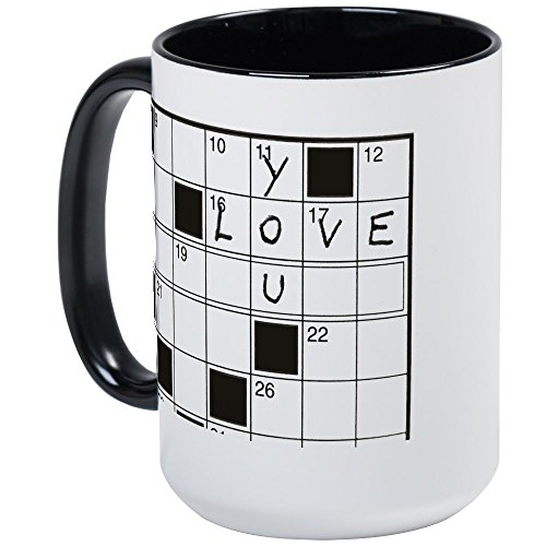 - CafePress - Love You Crossword Puzzle Large Mug - Coffee Mug, Large 15 oz. White Coffee Cup