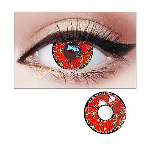 WQFXYZ Women Multi-Color Contact Lenses Cosplay Eyes Cute Charm and Attractive Fashion Eye Accessories Cosmetic Makeup Eye Shadow (13)]()