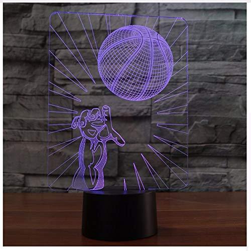 3D Led cabecera de baloncesto Toss Molding lámpara de ...