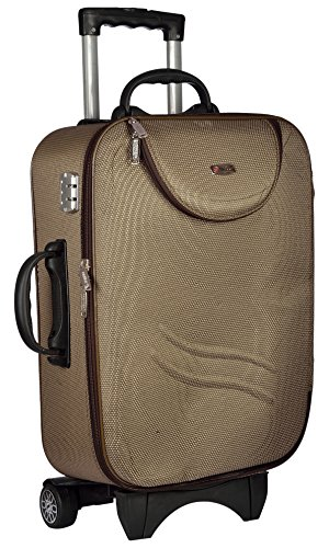 Trolley Bag Polyester Matty 62 cms Brown Softsided Check in Bag  TTB STDPT24 BR