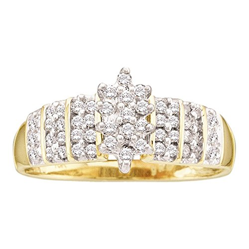 Diamond Set Cluster Ring - 9
