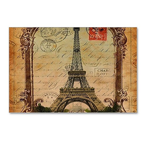 (CafePress - Vintage Scripts Postage P - Postcards (Package of 8), 6