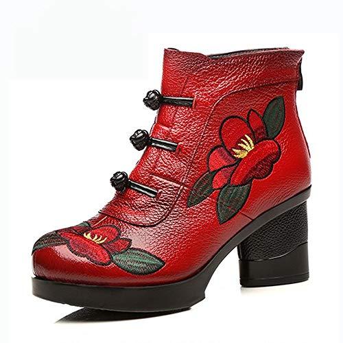 De Cómodas Cálido Tacón Para Botas Zapatos Mujer Alto Pingxiannv Invierno Nieve 5q4vwfE8