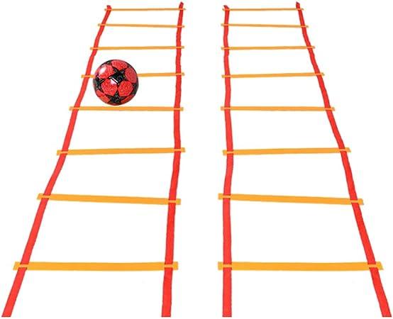Escalera Deportiva de la escalerade entrenamiento Escalera de agilidad Equipo de entrenamiento Entrenamiento de ritmo de salto Entrenamiento de fútbol Enrejado de salto De varios tamaños opcional: Amazon.es: Hogar