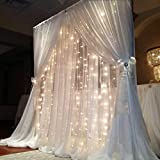 FEFELightup LED Curtain Lights - Warm White