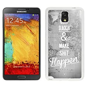 NEW Custom Designed For LG G2 Case Cover Phone With Quit Slackin And Make Shit Happen_White Phone