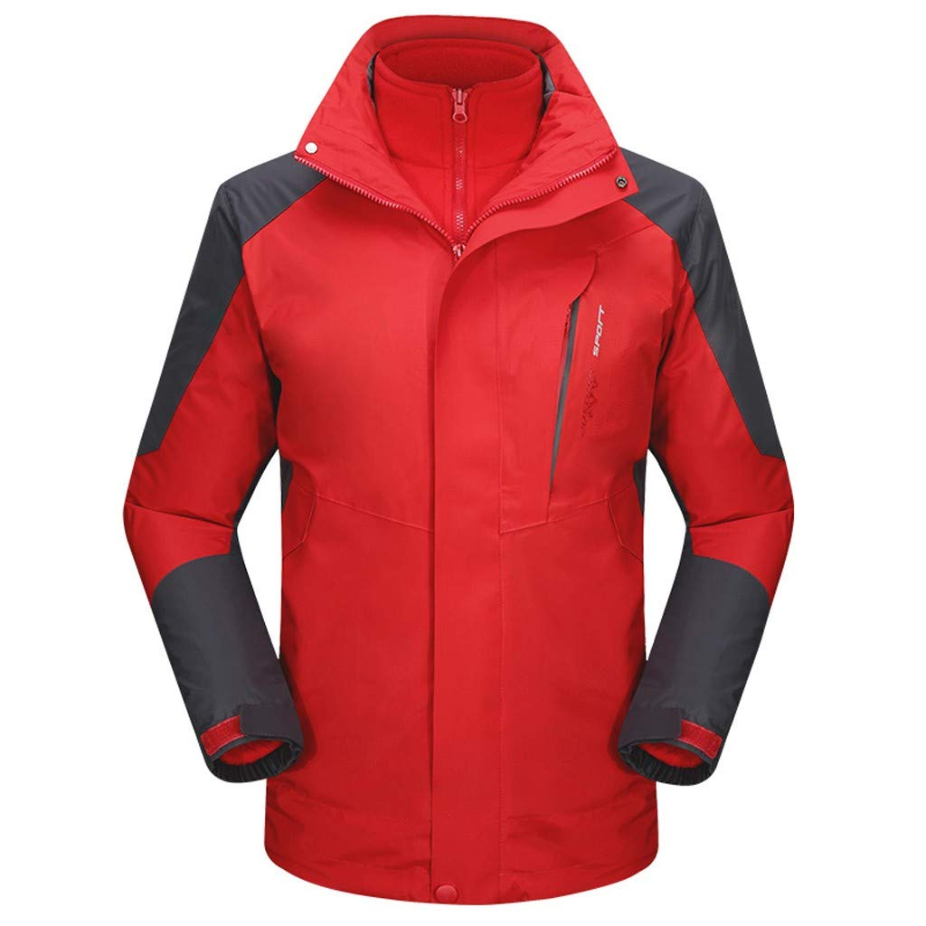 Botrong Mens Autumn Casual Waterproof Quick-Drying Breathable Sport Outdoor Coat (Red,XXXL) by Botrong