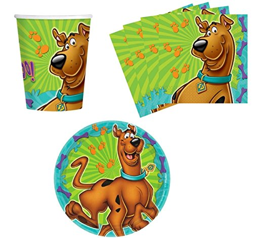 (Amscan Scooby-Doo Birthday Party Supplies Set Plates Napkins Cups Kit for)