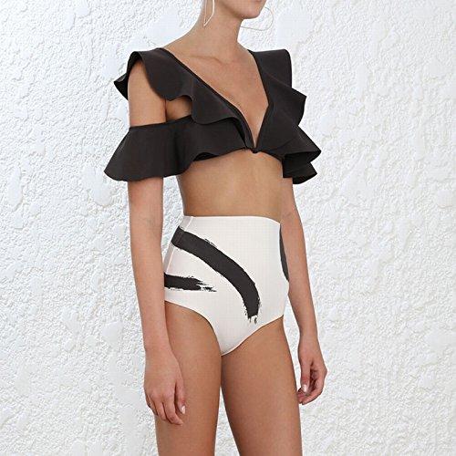 Bikini Stampa Costume Loto Di Xiaoxiaozhang Slim Bagno Da Bordo Diviso Alta Vita Spa Foglia Xl A dqpwXwIx0F