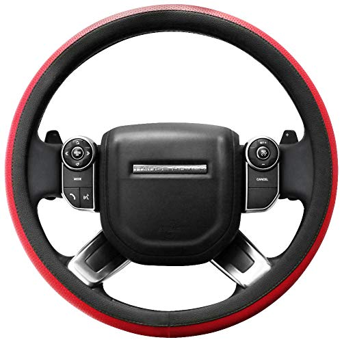 SEG Direct Microfiber Leather Red Steering Wheel Cover for F-150 Tundra Range Rover 15.5