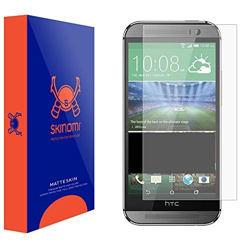 HTC One M8 Screen Protector, Skinomi MatteSkin Full Coverage Screen Protector for HTC One M8 Anti-Glare and Bubble-Free Shield