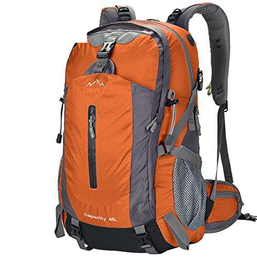 Outdoor-Rucksack/Bergsteigen Tasche/Reisen/Wanderrucksack-Orange 45L