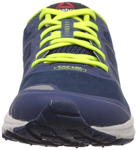 Reebok One Cushion 2.0 City Lights - zapatillas de running de material sintético hombre Azul (faux indigo/silver met/slr yellow/batik blue)