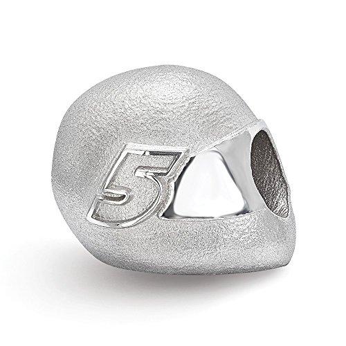 Sterling Silver Women's 5 Kasey Kahne NASCAR Jewelry Beads 12 mm 12 mm BEAD HELMET DRIVER # 5 -