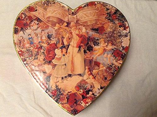Victorian Santa Merry Christmas Heart Shaped Box]()