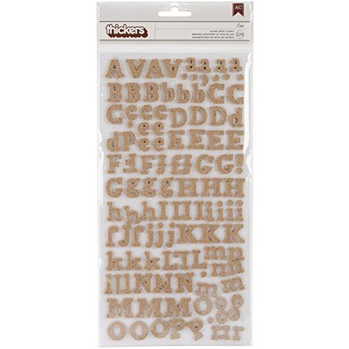 American Crafts 53460 226-Piece Chipboard Laminated Finish Stickers