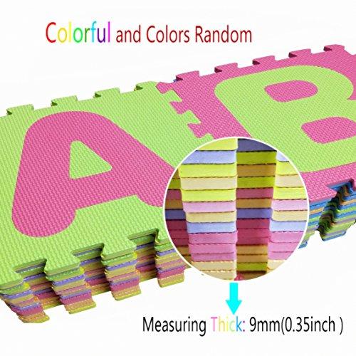 Puzzle Play Mat,Foam Floor Play Mat,Foam Interlocking Tiles,Alphabet & Number Foam Puzzle Mat,NON-TOXIC EVA 36 Piece Multi-Color Children Play & Exercise Mat (Large) (Large) by Chuanyue (Image #3)