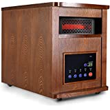 Giantex 1500w Pro 6 Element Infrared Quartz Heater Large Room W/wood Cabinet and Remote