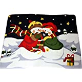 Whispering Snowman Fleece Blanket Christmas Throw by UK Christmas World