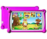 Kids Tablet, B.B.PAW Chinese&English Bilingual 1+8G Android 6.0 Tablet, Enhance/Train Kid's Abilities and Develop Talents,7 Inch HD Display-Pink