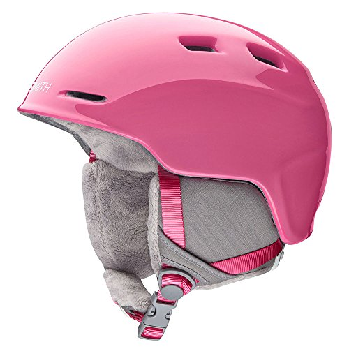 Smith Optics Unisex Youth Zoom Jr Snow Sports Helmet - Bright Pink Youth Medium (53-58CM)