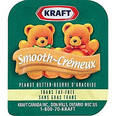 Kraft Peanut Butter Smooth Single Portion Control Packs - 18g 100 Pack (Peanut Butter Portion)