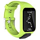 Inverlee Silicone Replacement Band Strap For TomTom Runner 2 / 3 Sport GPS Watch (Green)