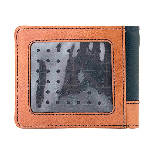 VÉLEZ 20390 Leather Bifold Wallets For Men | Cartera De Cuero De Hombre Navy at Amazon Mens Clothing store: