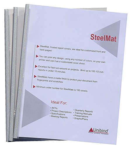 Unibind 15mm - Aluminum - 100pcs SteelMat Frosted - Cover Steelmat