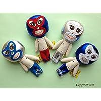 Muñeco de trapo estilo Luchador diseñado, elaborado y pintado a mano.