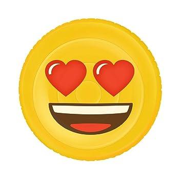 Emoji Inflable Flotador Corazón de la Cara XL, piscina y ...