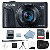 Canon Powershot SX740 HS (Black) 4K Video Digital Camera + Basic Accessory Kit - Including Everything You Need to Get Started