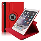 iPad Pro 10.5 Cover, 360 Degree Rotating PU leather Smart Stand Case Cover with Anti-slip Groove for 10.5 Inch iPad Pro 10.5-Red