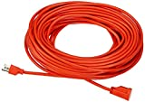 #4: AmazonBasics 16/3 Vinyl Outdoor Extension Cord - 100 Feet (Orange)