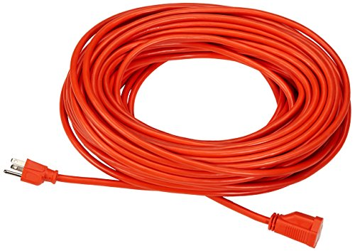 AmazonBasics Vinyl 16 Gauge Outdoor Electric Extension Cord - 100 Foot, Orange