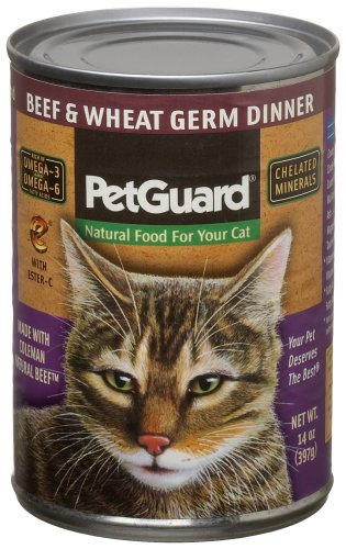 Pet Guard Beef & Wheat Germ Food for Cats, 14-Ounce Cans (Pack of 12)