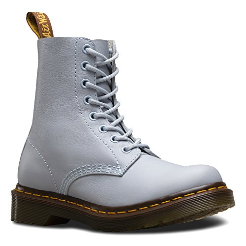 Dr. Martens Women's Pascal 8-Eye Boot Blue Moon Virginia 4 UK (Virginia Leather)