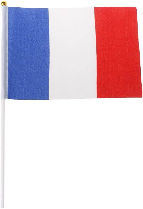 SimpleLife 5pcs Main fran/çaise agitant des Drapeaux France banni/ères Sport Ouverture ext/érieure d/écor
