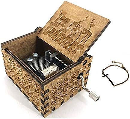 Cuzit The Godfather - Caja Musical de Madera para manivela: Amazon.es: Hogar