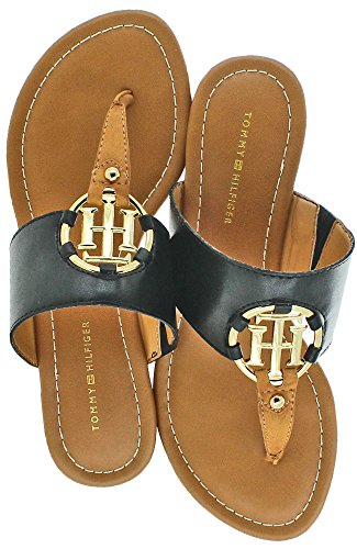 Sandals Black Women's Tommy Hilfiger Multi Sia yxtUtwqf