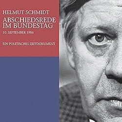 Abschiedsrede im Bundestag. Ein politisches Zeitdokument