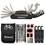 #6: Oumers Multi-Function Bike Bicycle Cycling Mechanic Repair Kit with 3pc Tire Lever 5pc Tyre Patches/Tire Rasp Work Bag & 2-in-1 Universal Bicycle Chain Repair Tool - Chain Breaker and Chain Checker