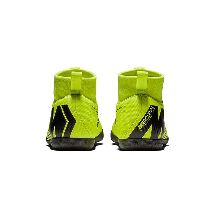 Nike Botas de Fútbol Sala Mercurial Superfly Series Suela Lisa Amarillo  Fluor Negro Niño  Amazon.es  Zapatos y complementos 0d6adc2cf4775