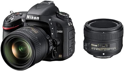 Nikon Digital Single-lens Reflex Camera D600 Double Lens Kit 24-85mm F/3.5-4.5g Ed Vr/50mm F/1.8g Included D600wlk