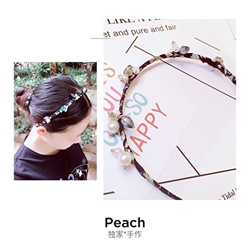 usongs Exclusive hand-made elegant chiffon wrap diamond pearl hair accessories hair bands