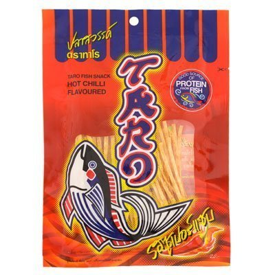 Taro Fish Snack Hot Chilli Super Sab Flavoured 32g. 3Pack ()