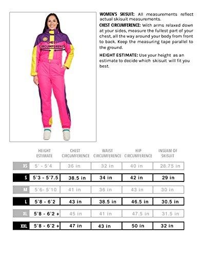 Womens Blue Bomber Retro Ski Suit Vintage Inspired Ski Suit