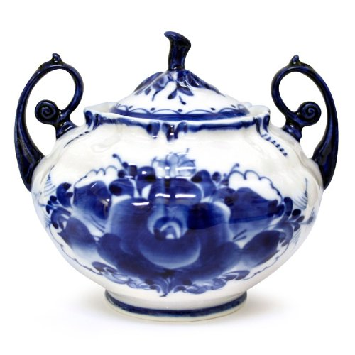 Gzhel Porcelain Sugar Bowl