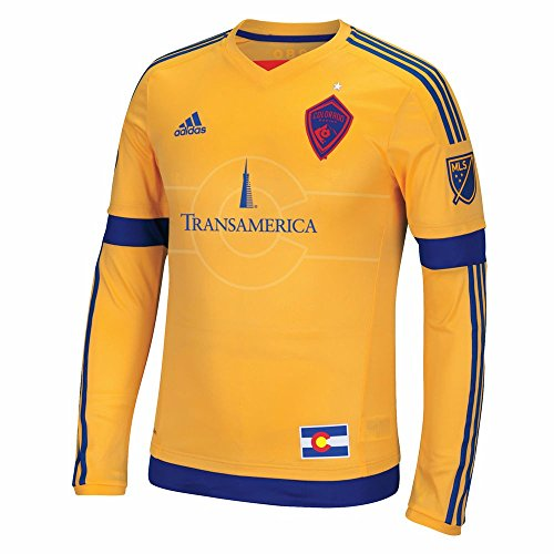 adidas Colorado Rapids Major League Soccer MLS Long Sleeve Authentic On-field Jersey Men's (L) (Colorado Football Jersey)